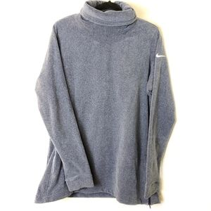 Nike Turtleneck Cowl Neck tunic fuzzy sweatshirt